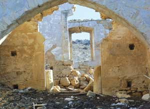 he Maronite monastery of the Prophet Elias in Skylloura, now destroyed and used as an animal pen